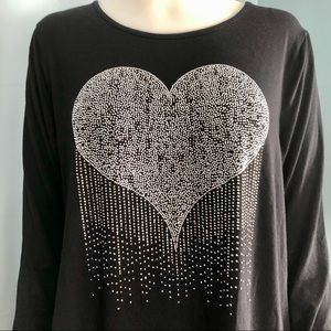 Tricotto Long Sleeves Heart Tunic